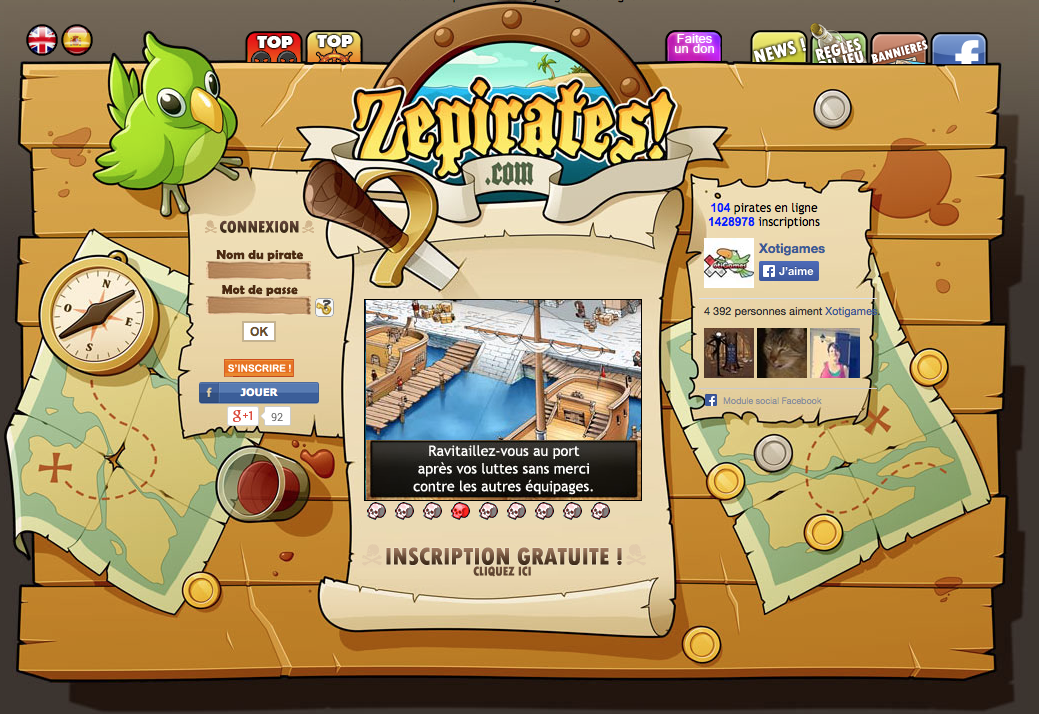 jeu de pirate
